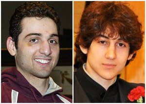 Alleged Boston bombers Tamerlan Tsarnaev, 26, left, and Dzhokhar Tsarnaev, 19.